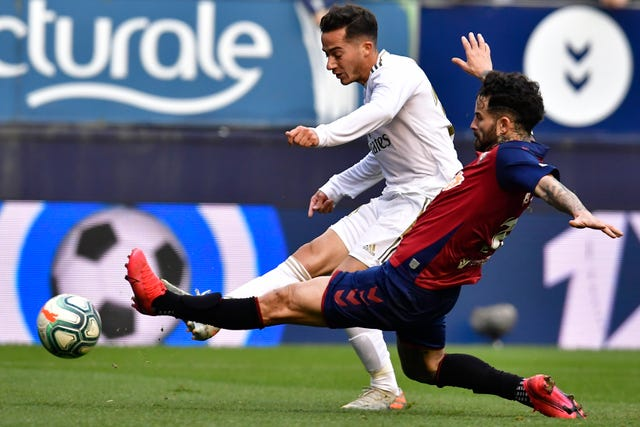 Lucas Vazquez, left, came on and scored in Real Madrid's 4-1 win at Osasuna