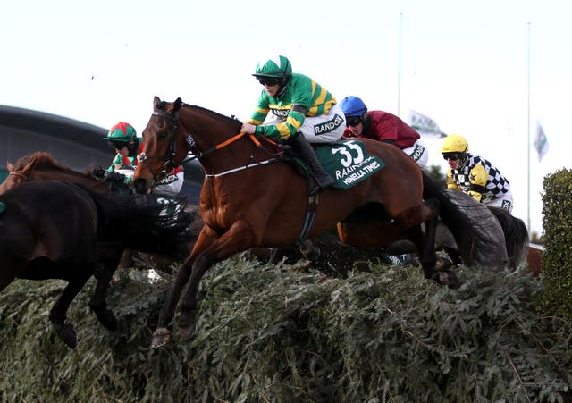 Minella Times and Rachael Blackmore during the Grand National