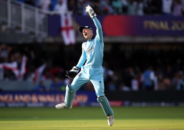 Jos Buttler jumps for joy at Lord's