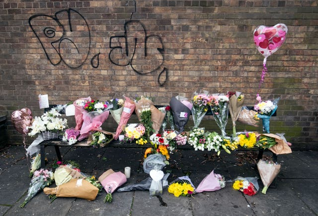 Floral tributes and messages for Libby Squire (Danny Lawson/PA)