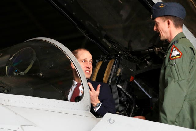 Duke of Cambridge visit to RAF Coningsby