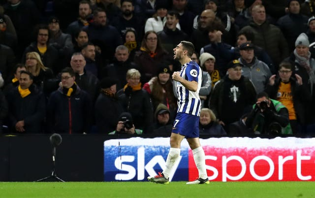 Neal Maupay's goal got Brighton back on level terms