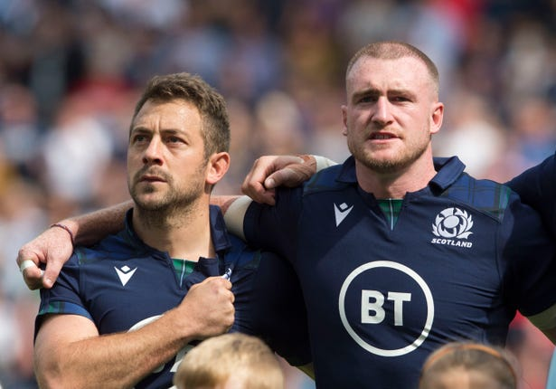 Stuart Hogg (right)