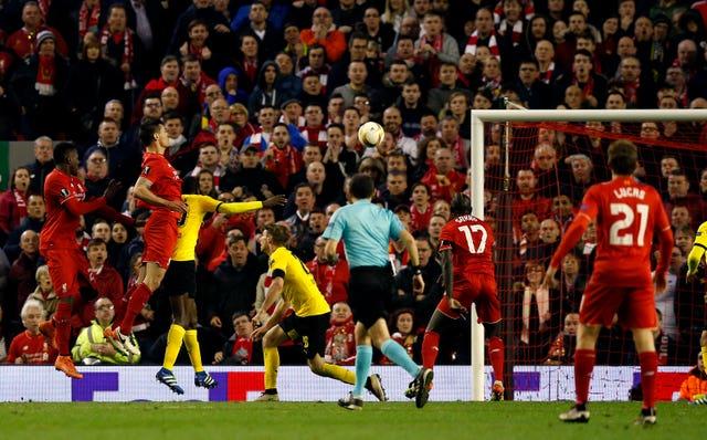 Liverpool v Borussia Dortmund – UEFA Europa League – Quarter Final – Second Leg – Anfield