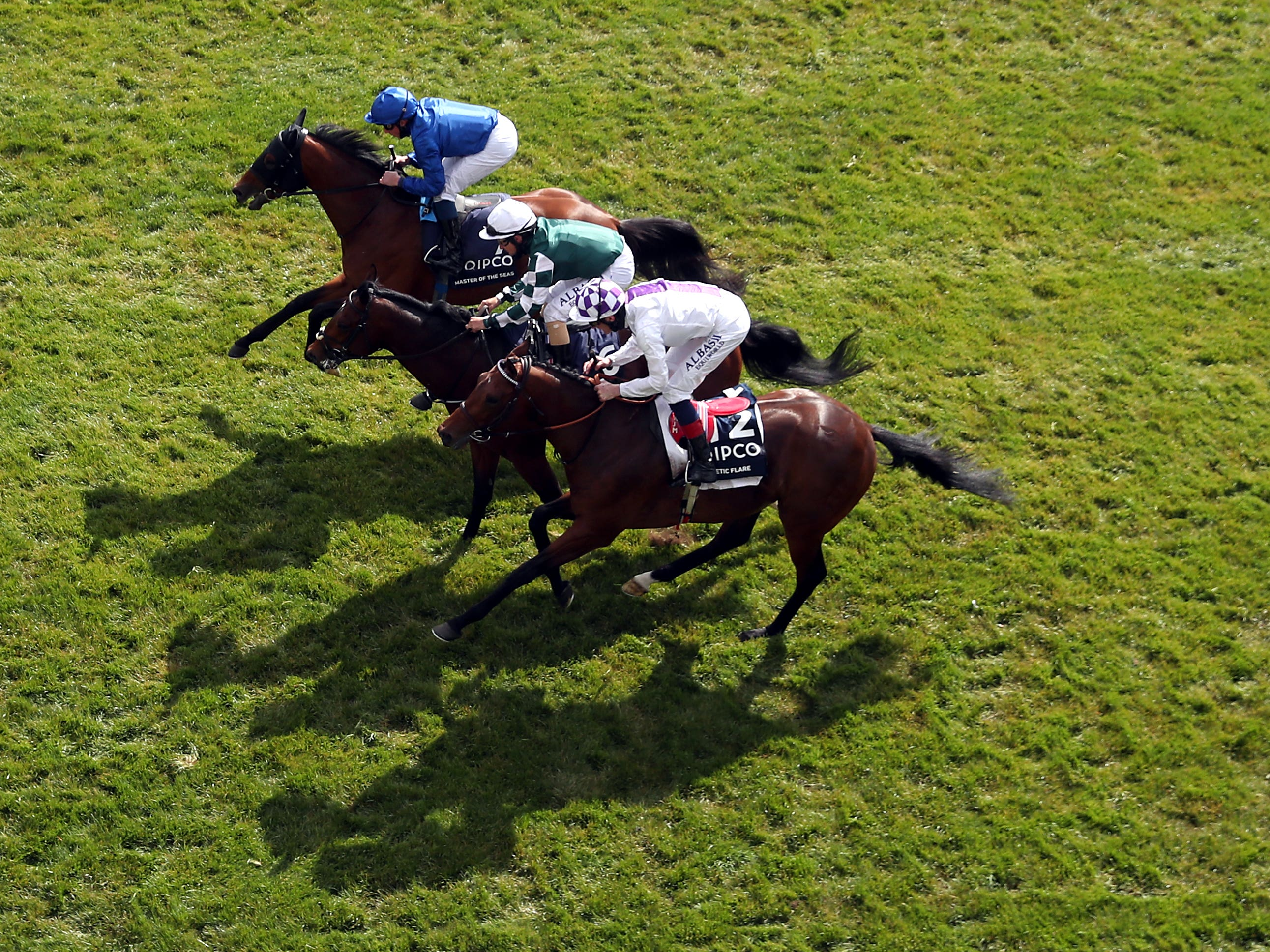 Poetic Flare will try to add the St James's Palace Stakes to this narrow triumph in the 2000 Guineas (David Davies/Jockey Club)