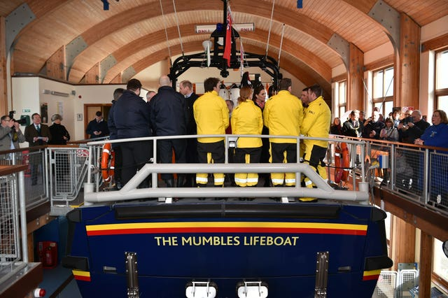 The RNLI Mumbles lifeboat