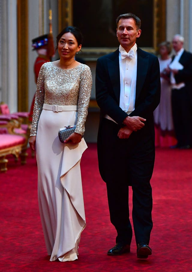 Foreign Secretary Jeremy Hunt and his wife Lucia