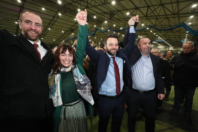 SDLP leader Colum Eastwood is elected MP for Foyle