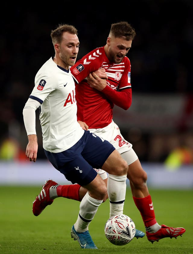 Christian Eriksen did not hold back against Middlebrough