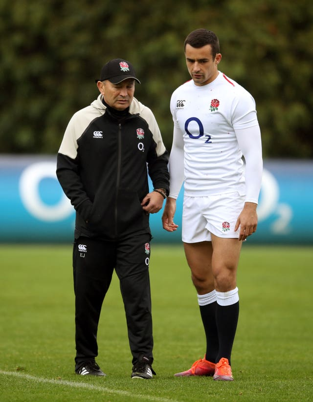 Alex Lozowski (right) was replaced at half-time by Eddie Jones (left)