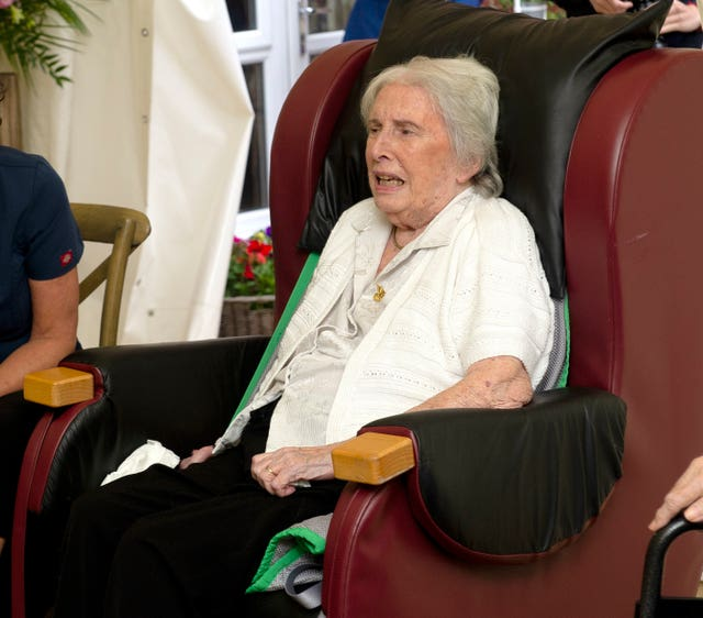Resident Joan Drew-Smith, 87, made William and Kate laugh with her criticism of their bingo calling.