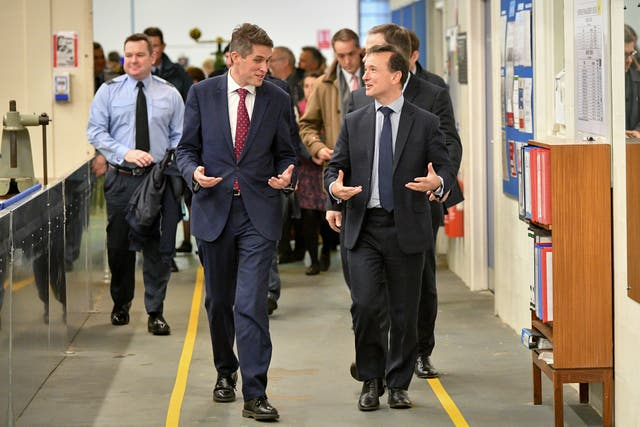 Gavin Williamson visit to MOD St Athan