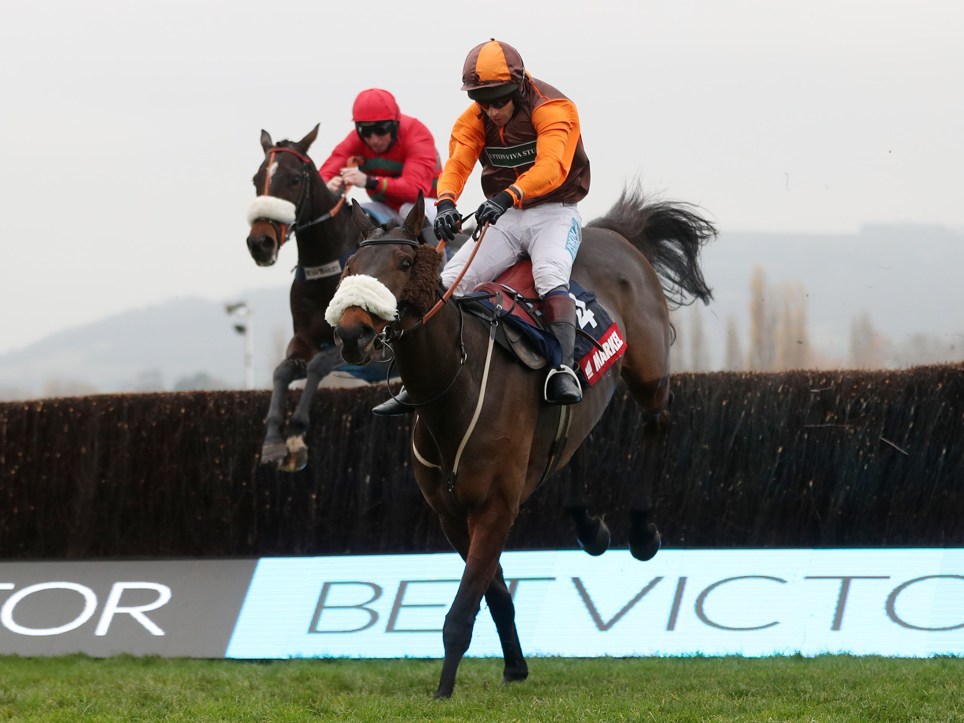 The Young Master and Sam Waley-Cohen on their way to victory at Cheltenham (David Davies/PA)