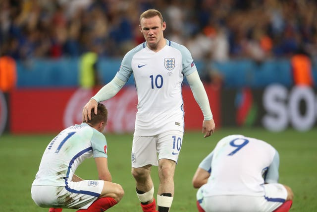 England captain Wayne Rooney would not play tournament football again following the defeat.