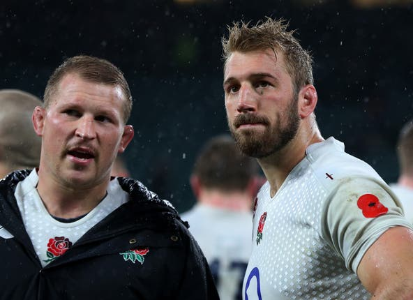 Dylan Hartley, left, replaced Robshaw as England captain in January 2016