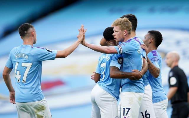 Kevin De Bruyne inspired City to a confident victory