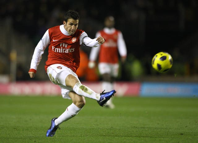 Cesc Fabregas was with Arsenal between 2006 and 2014