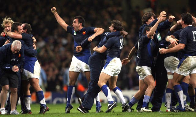 French celebrated victory over New Zealand in the 2007 World Cup quarter-finals.