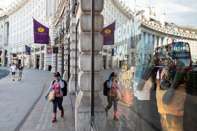 Shoppers on Regent Street, in London, part of the Crown Estate's portfolio. Dominic Lipinski/PA Wire