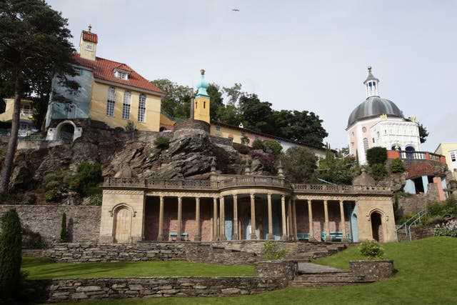 There are calls for a 'lockdown' to stop tourists visiting places like Portmeirion in North Wales (Yui Mok/PA).