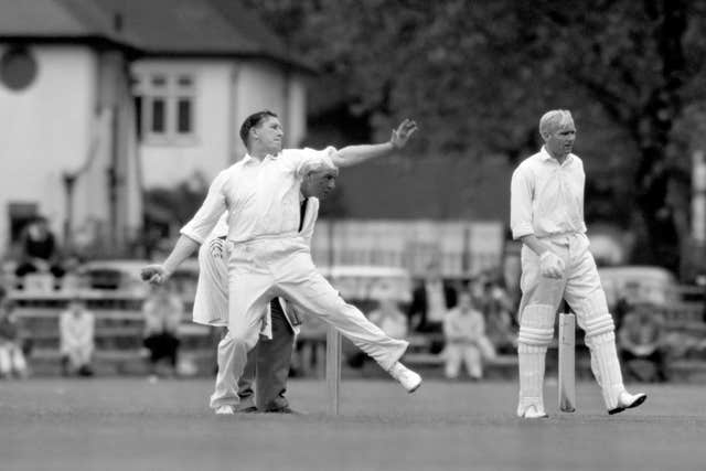 Jim Laker's match figures of 19 for 90 against Australia are the best by any bowler in first-class cricket (PA)