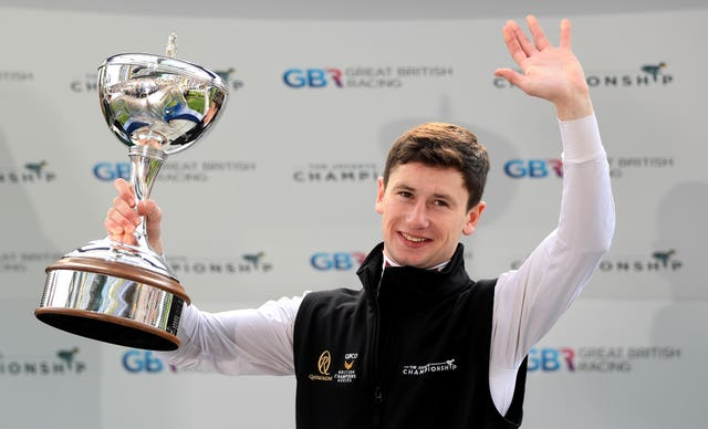Murphy has been crowned champion jockey for the last two years
