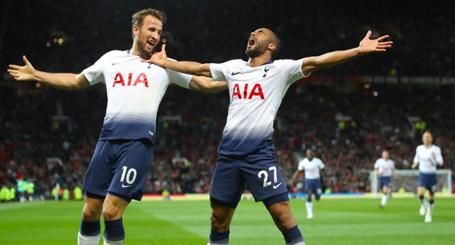 Harry Kane (left) and Lucas Moura (right) scored the goals when Spurs won at Old Trafford in August