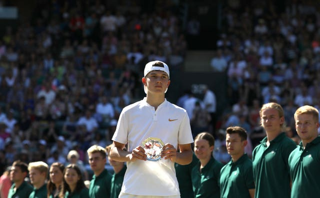 Jack Draper was the runner-up in he Wimbledon boy's tournament last summer