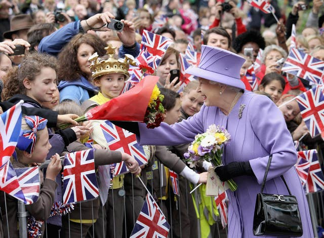 The Queen meets well wishers during a visit to Yeovil in 2012.