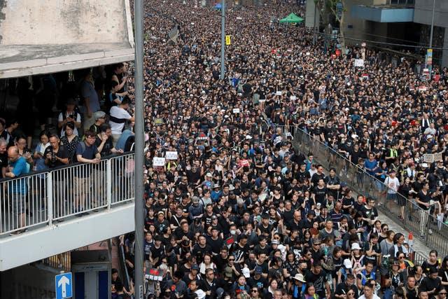 Hong Kong anti-extradition demonstrators