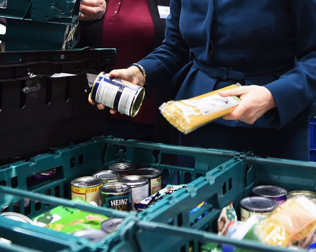 Many families are relying on food banks