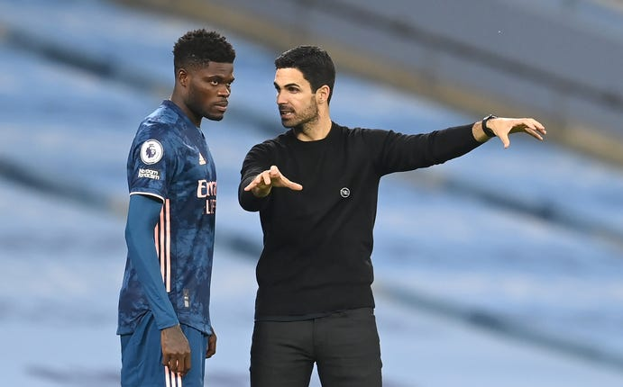Arteta could be without Thomas Partey at the weekend.