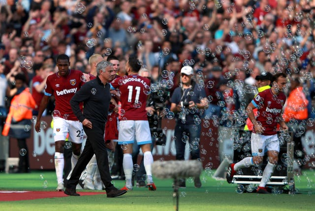 Jose Mourinho's last trip to West Ham ended in defeat while at Manchester United