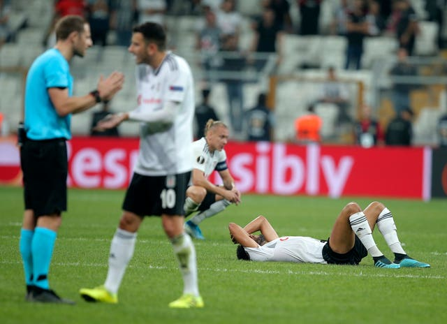 Besiktas players look dejected