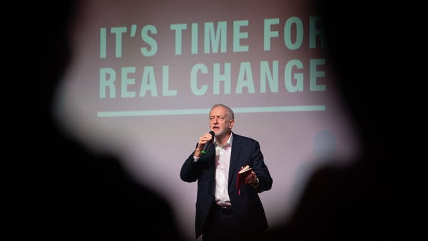 Corbyn pledges to stand up for 'exploited workers'