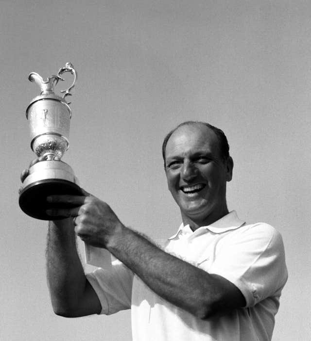 Roberto De Vicenzo, pictured after winning the British Open Golf Championship in 1967, made a costly mistake at the Masters a year later