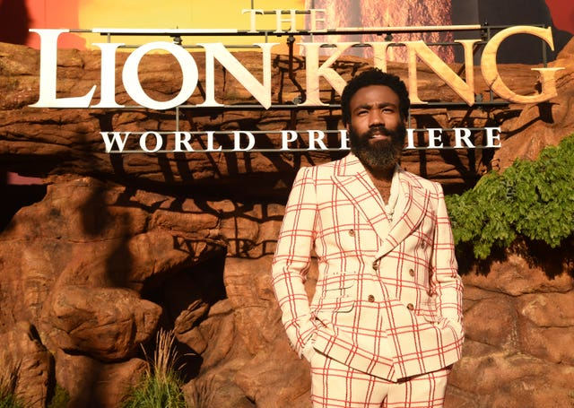 Donald Glover arrives at the world premiere of The Lion King