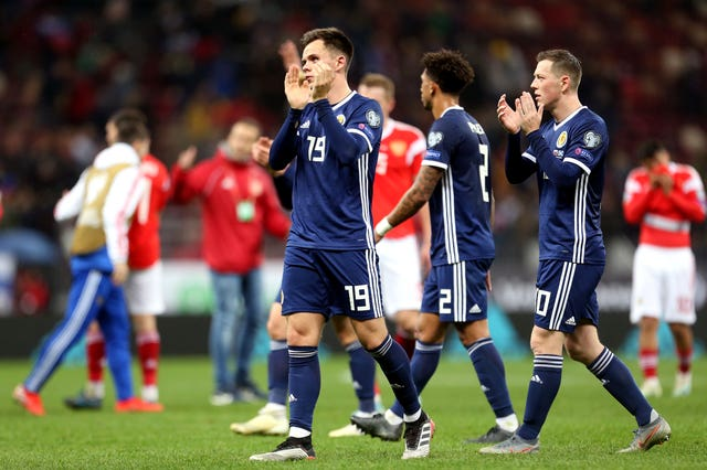 Scotland were heavily beaten in Russia