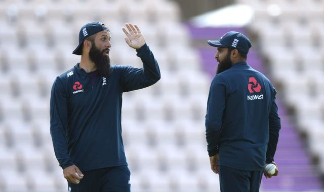 England are without Moeen Ali (left) and Adil Rashid (right).