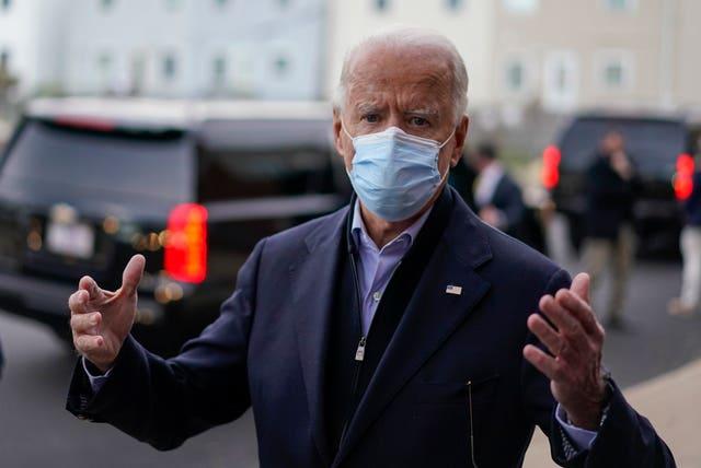 Joe Biden makes a campaign stop in Wilmington, Delaware