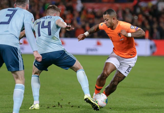 Memphis Depay was involved in most of Holland's attacking moves and his late double helped seal victory