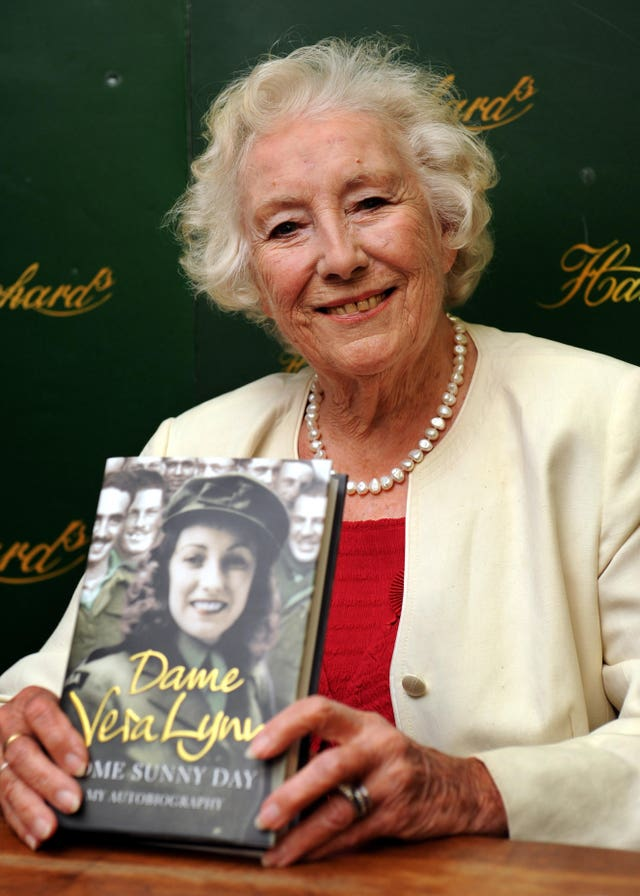Dame Vera Lynn during a photocall to promote her autobiography
