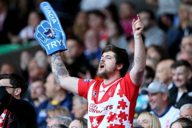 A St Helens fan during the Dacia Magic Weekend in Liverpool