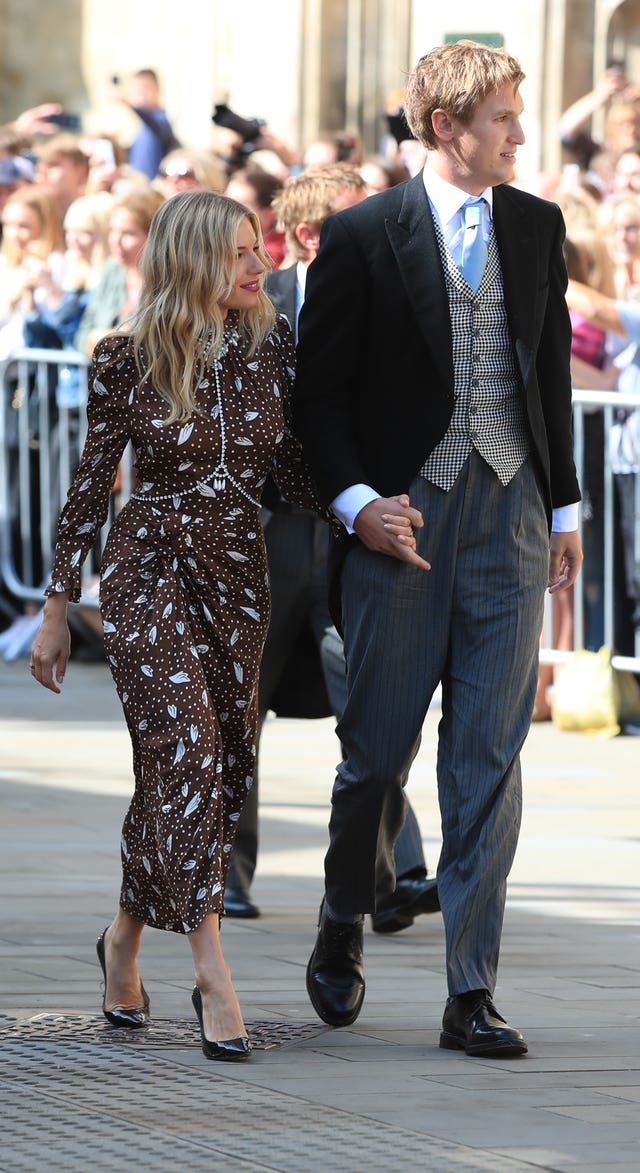 Sienna Miller and Lucas Zwirner at the wedding