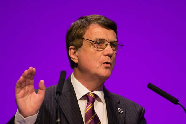 Ukip leader Gerard Batten said he was looking forward to working with Tommy Robinson (Aaron Chown/PA)