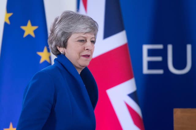 Prime Minister Theresa May holds a news conference after the European Council in Brussels where European Union leaders met to discuss Brexit