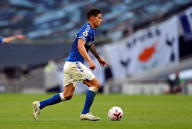 James Rodriguez impressed on his Everton debut