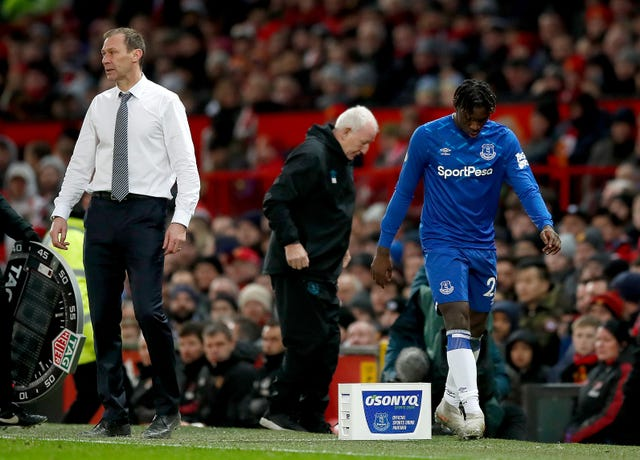 Moise Kean cut a dejected figure after being hauled off at Old Trafford