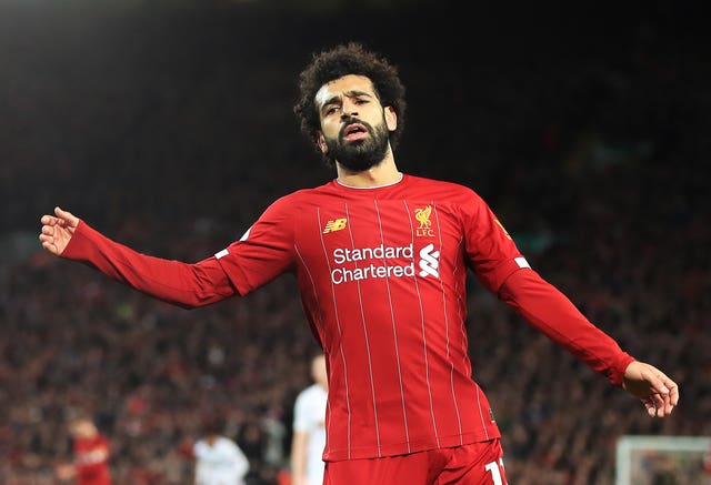 Mohamed Salah is among of a number of Liverpool absentees on Sunday (Peter Byrne/PA)