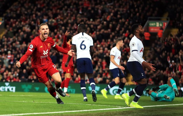Tottenham failed to hold on to their early lead at Anfield